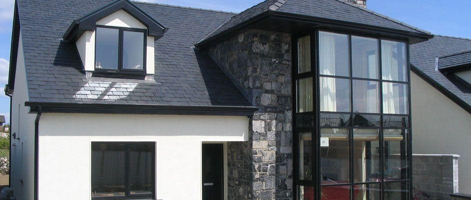Aluminium windows in black google search exterior for Commercial windows