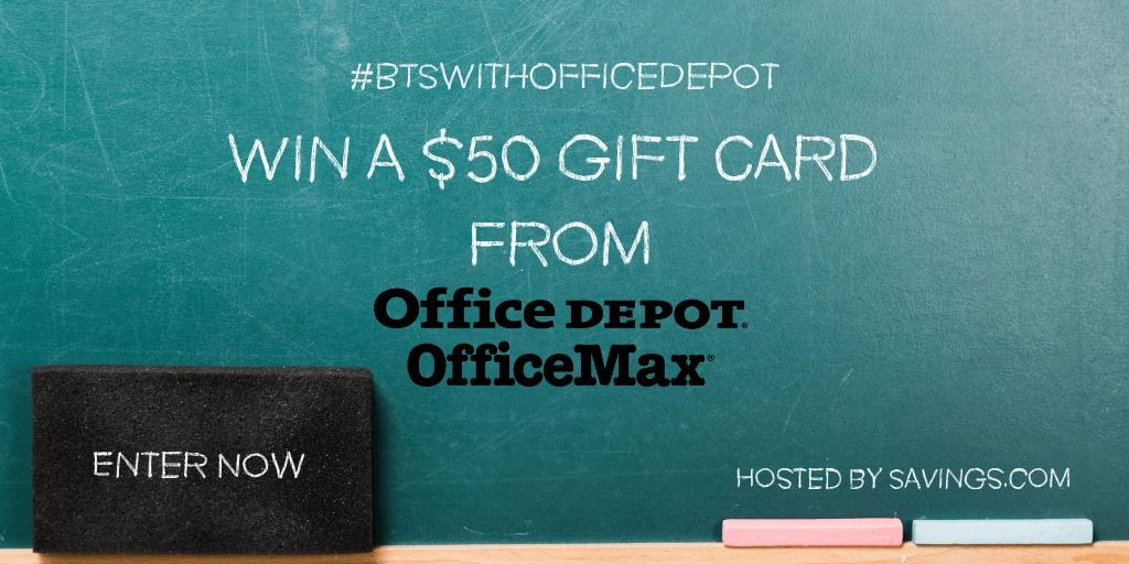 Enter To Be 1 Of 10 Winners To Win A Total Of 500 In Office Depot Gift Cards Ends 8 02 Deliciously Savvy Gift Card Giveaway Gift Card Office Max
