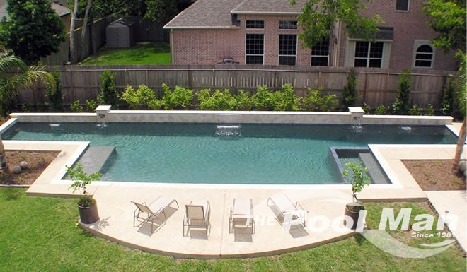 View The Pool Man Inc\'s geometric and classic pool design photos ...