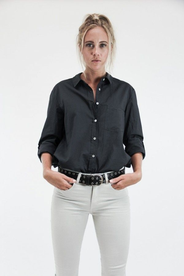 Masculine shirt in charcoal blue| SYSTEM ACTION