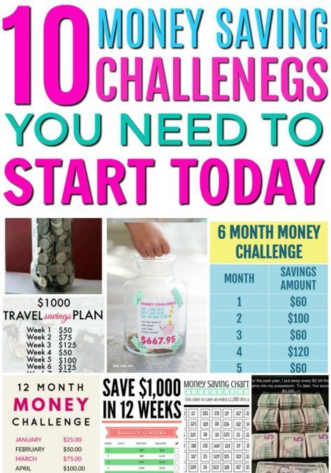 10 Money Saving Challenges to Start Today! #startsavingmoney