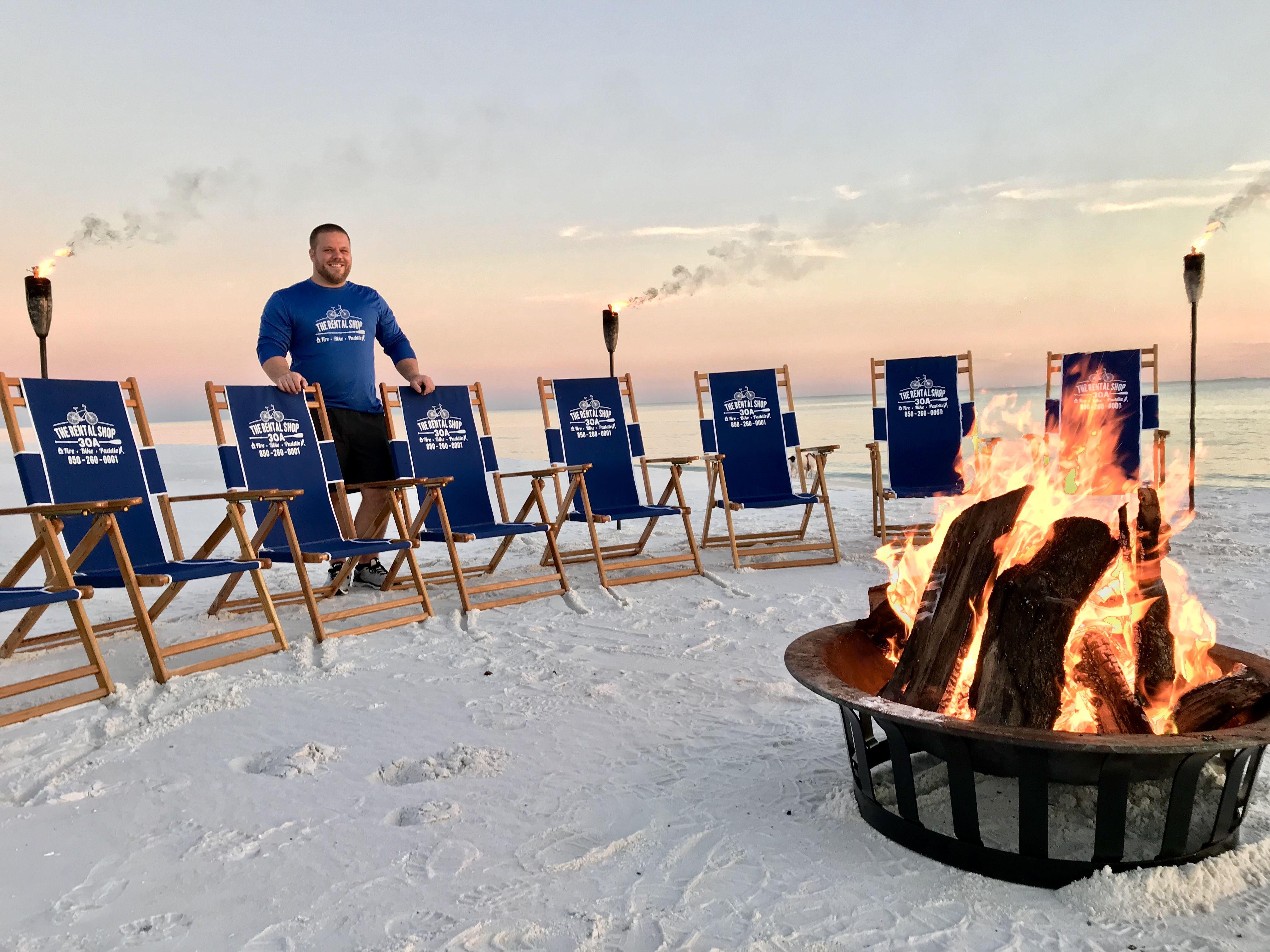 Beach Bonfires In Santa Rosa Fl Offered By The Al