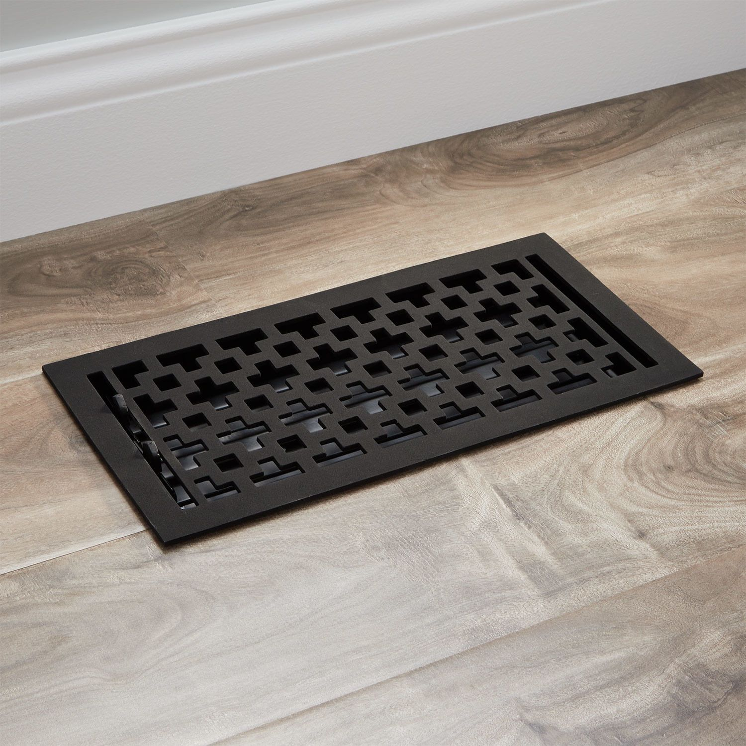 Featuring A Black Powder Coat The Durand Iron Floor Register Feels Premium To The Touch This Durable Product F Floor Registers Decorative Vent Cover Flooring