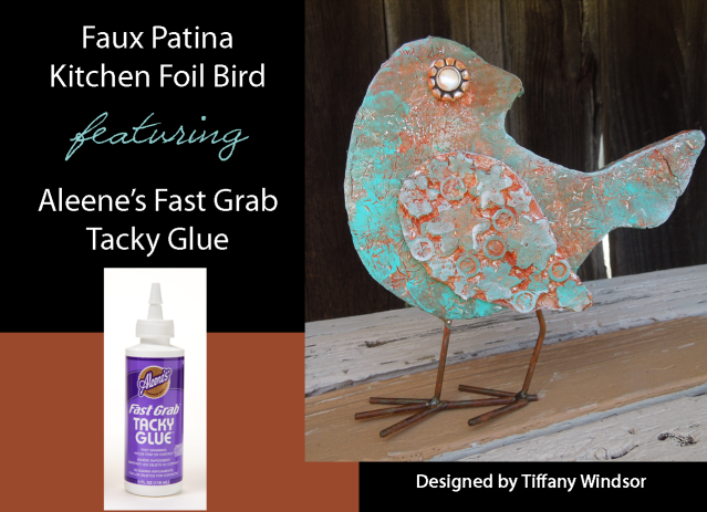 Aleenes Faux Patina Kitchen Foil Bird by Tiffany Windsor