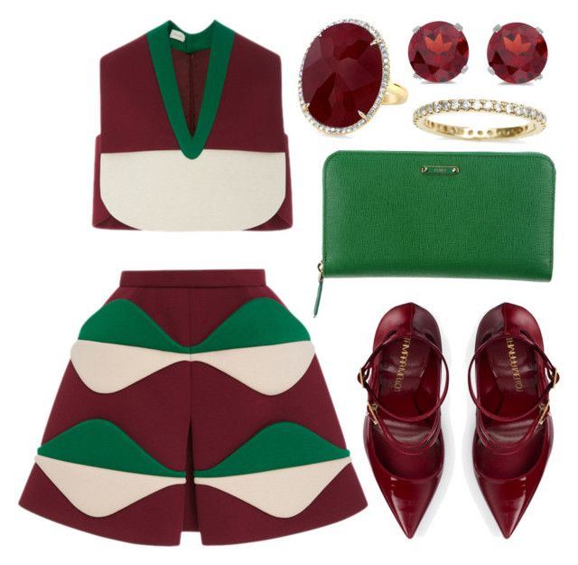 Untitled #1009 by lovefashionforever0 on Polyvore featuring polyvore fashion style Delpozo Tamara Mellon Fendi BillyTheTree clothing