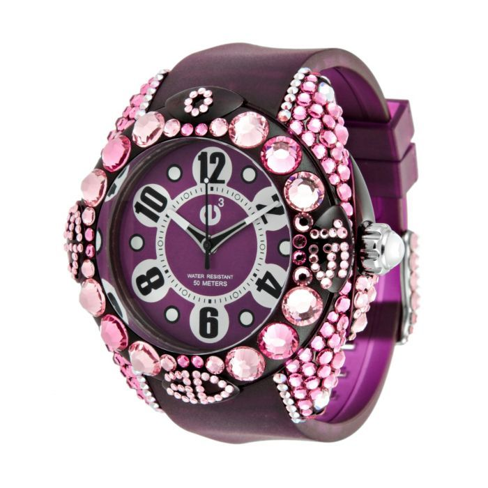 Purple & Pink Bling Watch