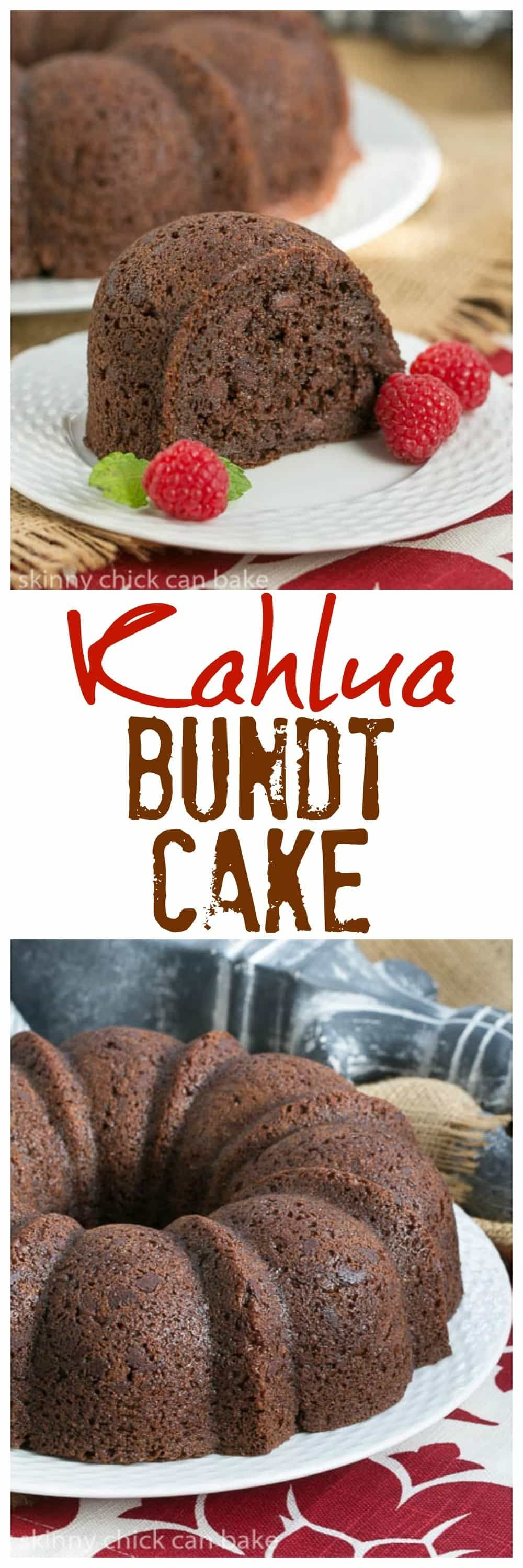 Kahlua Bundt Cake | A super easy, decadent chocolate cake! @lizzydo #easychocolatecake