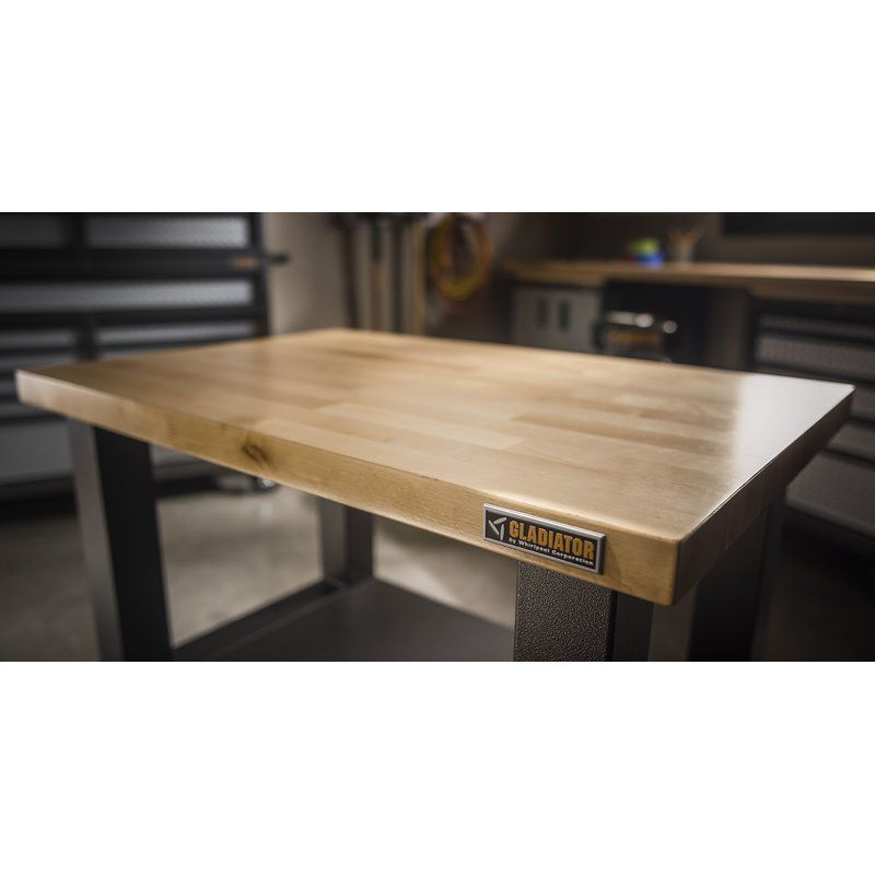 Enjoyable Gladiator Workbenches 72 Adjustable Height Butcher Block Uwap Interior Chair Design Uwaporg