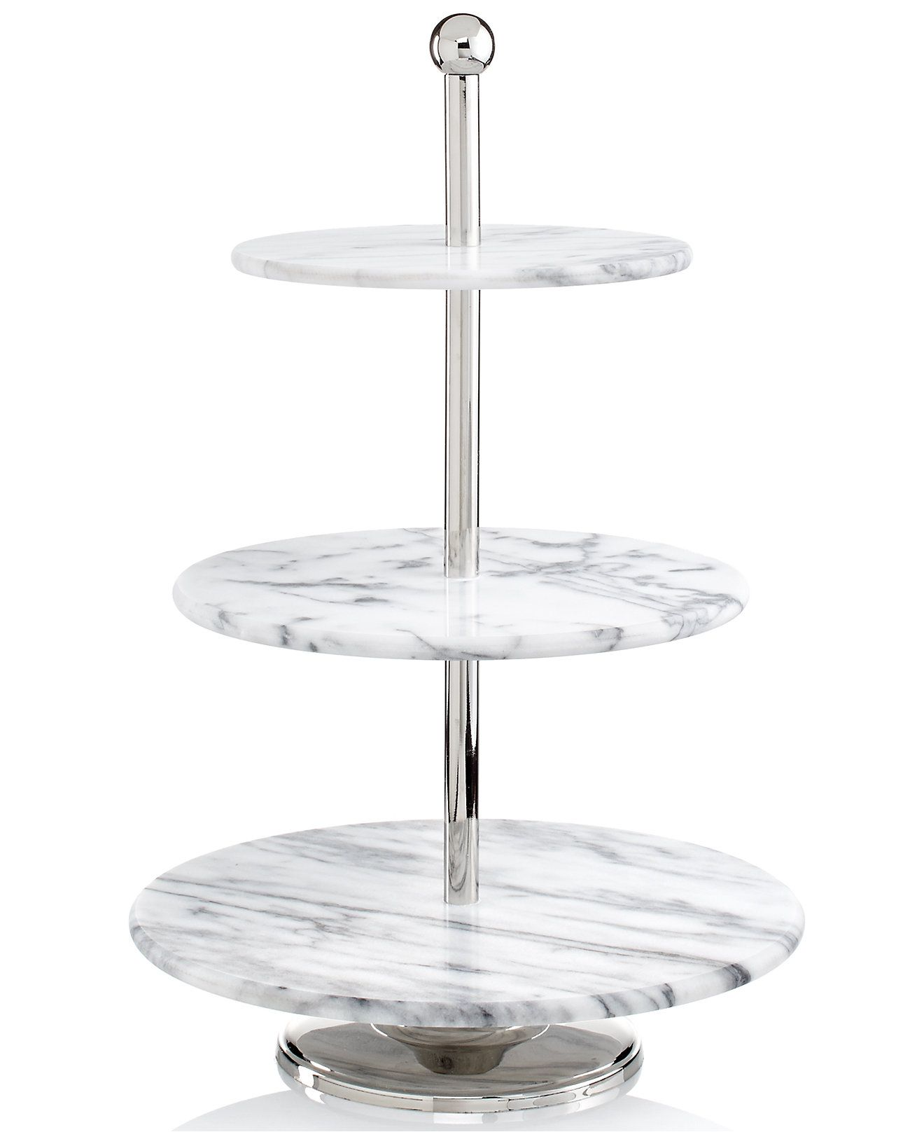 Registry Trend Marble Inspired Serveware Is Huge This Season And A 3 Tiered Piece Adds Height And Variety To Your Table Tiered Server Marble Decor Serveware