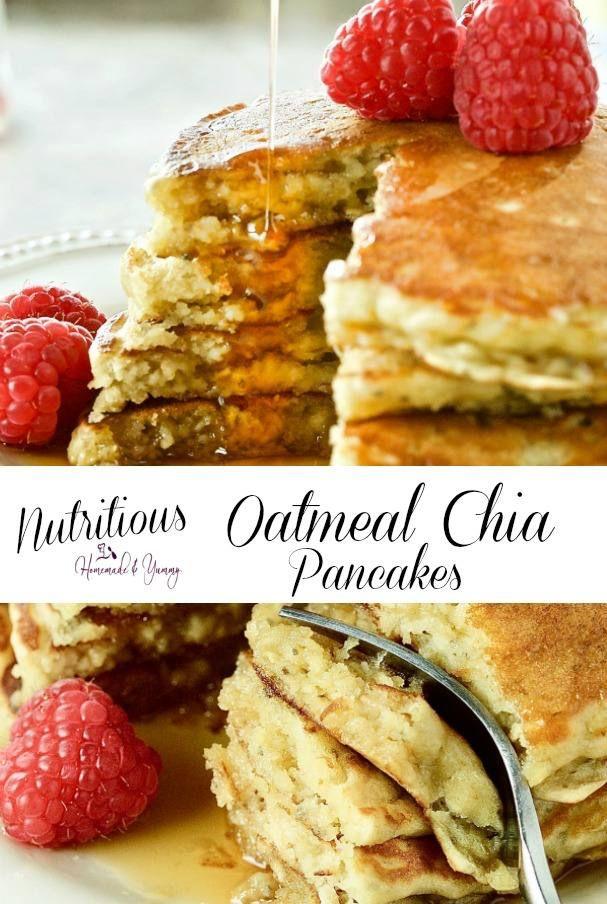 Nutritious Oatmeal Chia Pancakes with Kefir | Home