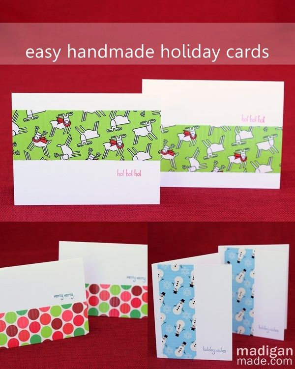Simple diy christmas cards with duck tape tutorial at madiganmade card tutorials m4hsunfo