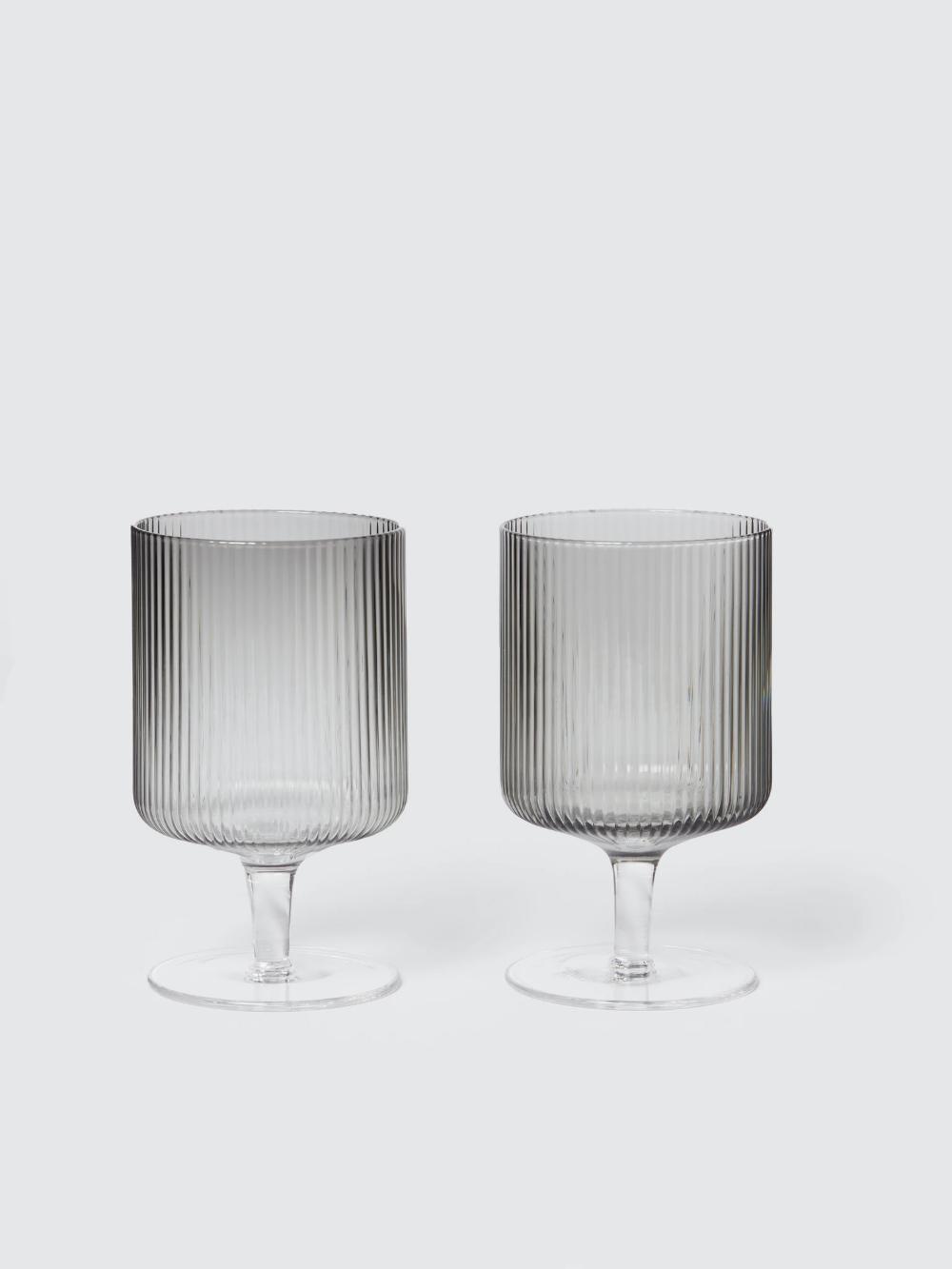 Ferm Living Ripple Wine Glasses Set Of 2 In 2020 Glass Suppliers Glasses Drinking Wine Glasses