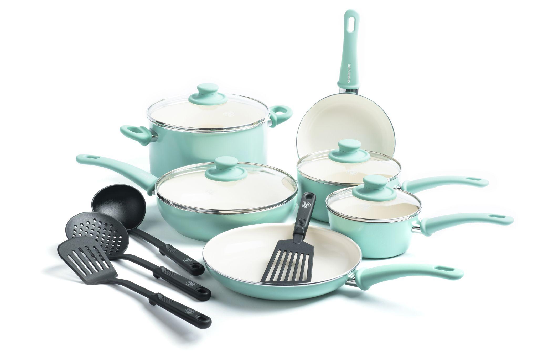 Greenlife ceramic nonstick 14 piece cookware set