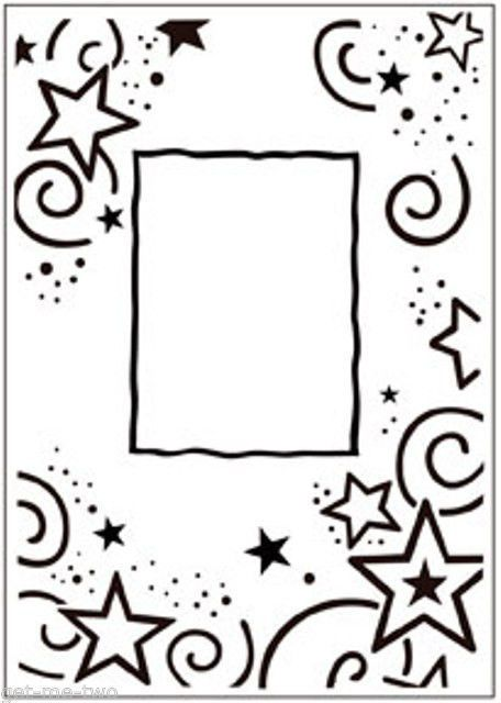 Stars Frame Embossing Folder Darice A2 compatible with most machines ...