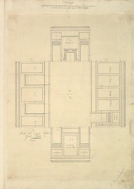 Isaac Ware Treasury House 10 Downing Street London Plan Of The First Floor Parlor Northeast Corner Room How To Plan Flooring Great House