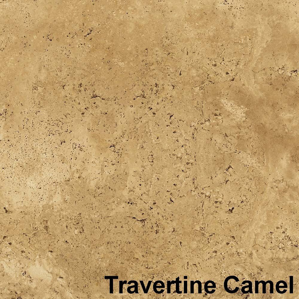 Perfection Floor Tile Natural Stone Travertine Camel Flexible Loose