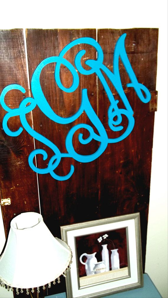 16inch Painted Wooden Monogram Front Door Letter By Lettermania