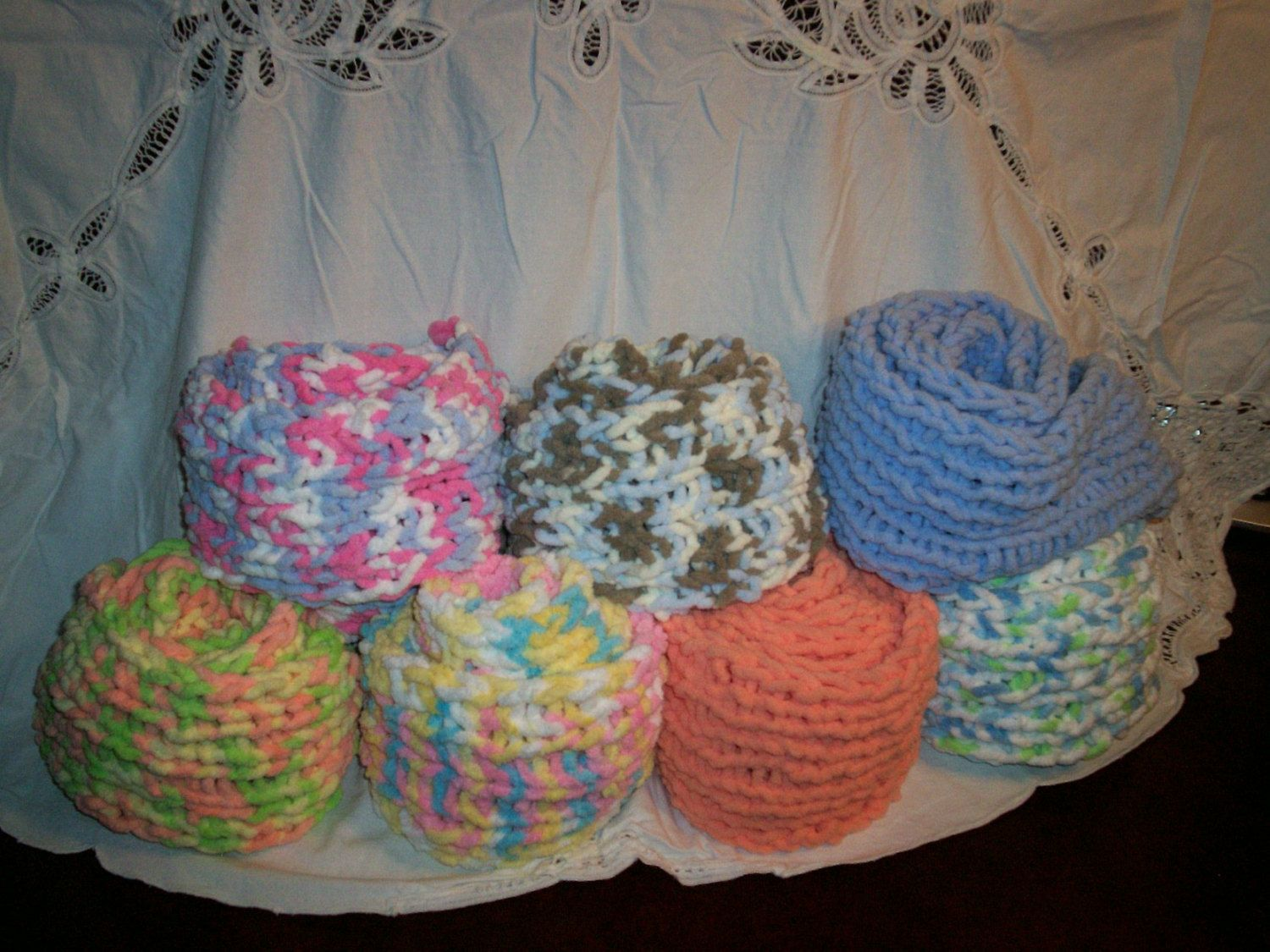 Handmade knitted Super bulky scarf by BCauseOfYou on Etsy