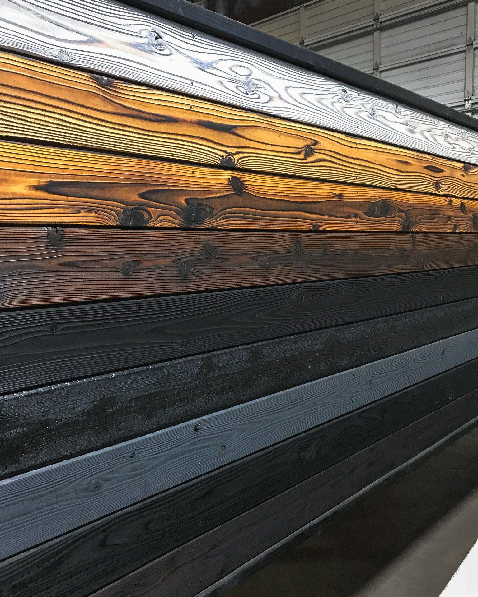 Yakusugi Boards By Nokamoto Forestry Wandverkleidung Holz Verkohltes Holz Holzbearbeitung