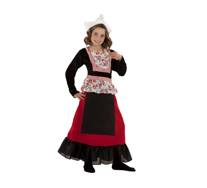 el disfraz de holandesa para nia incluye vestido y gorrito en
