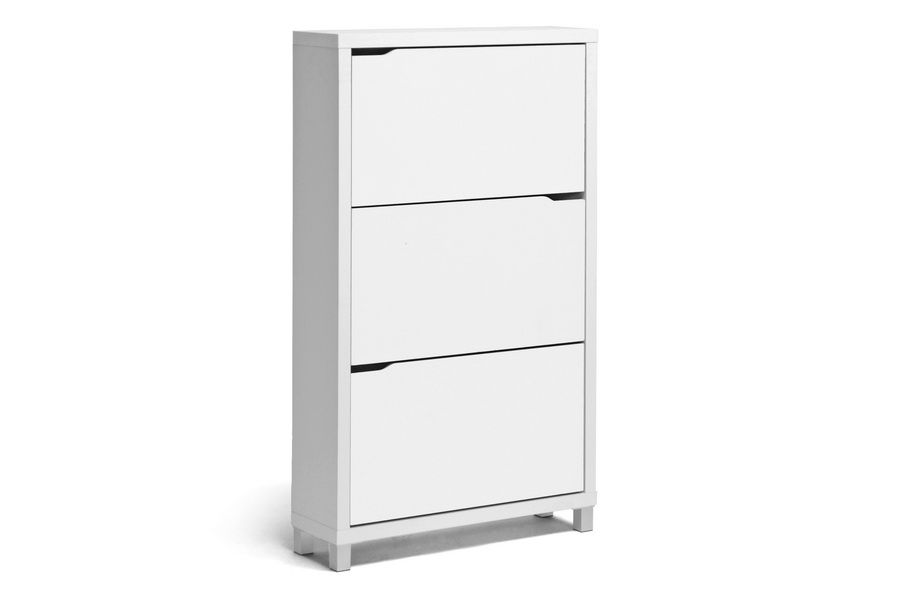 Simms White Modern Shoe Cabinet With Images Shoe Cabinet