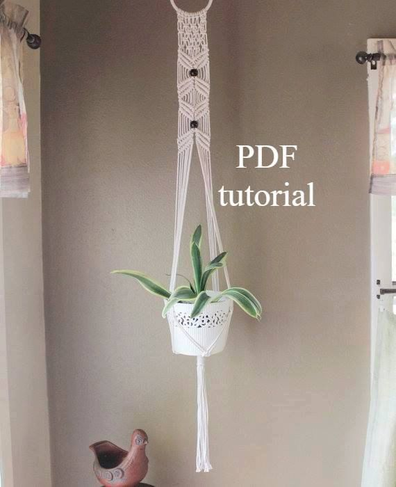 picture relating to Free Printable Macrame Plant Hanger Patterns identify macrame behavior, macrame how toward, macrame plant hanger pdf