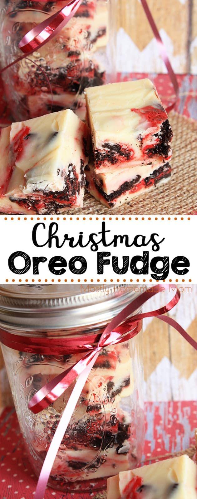 Christmas Oreo Fudge Video Tutorial Mostly Homemade Mom Recipe Oreo Fudge Christmas Fudge Oreo