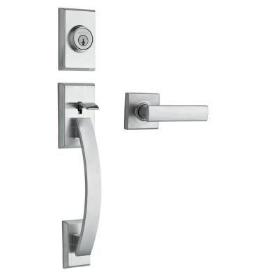 Kwikset Tavaris Satin Nickel Double Cylinder Door Handleset with ...