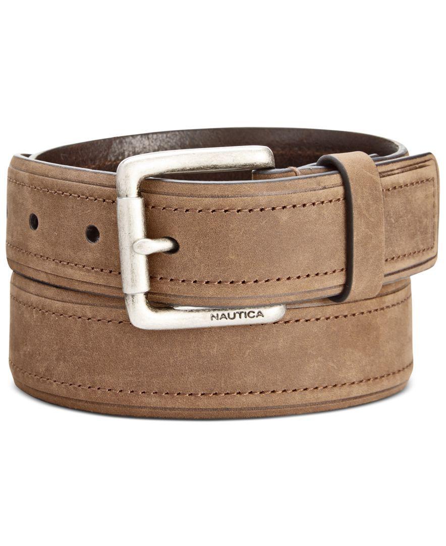 Nautica Men's 32MM Leather Belt & Reviews All