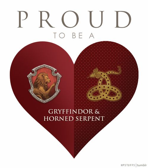 HOGWARTS GRYFFINDOR ILVERMORNY HORNED SERPENT HOUSES