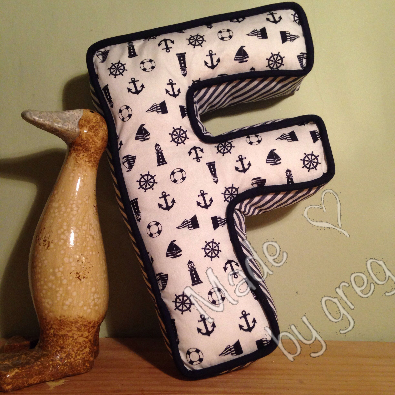 Handmade DIY Alphabet letter shaped cushion, decorative ...
