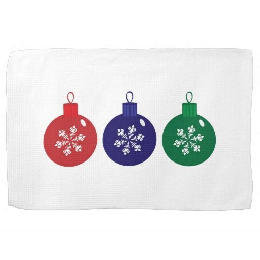 Christmas Baubles Towel #Christmas #Baubles #Towel