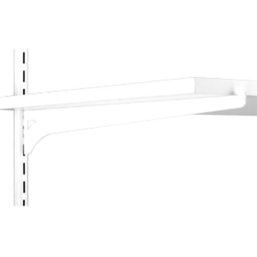 16 White Single Track Wood Shelf Bracket Shelving Hardware Wood Shelves Wood Shelf Brackets