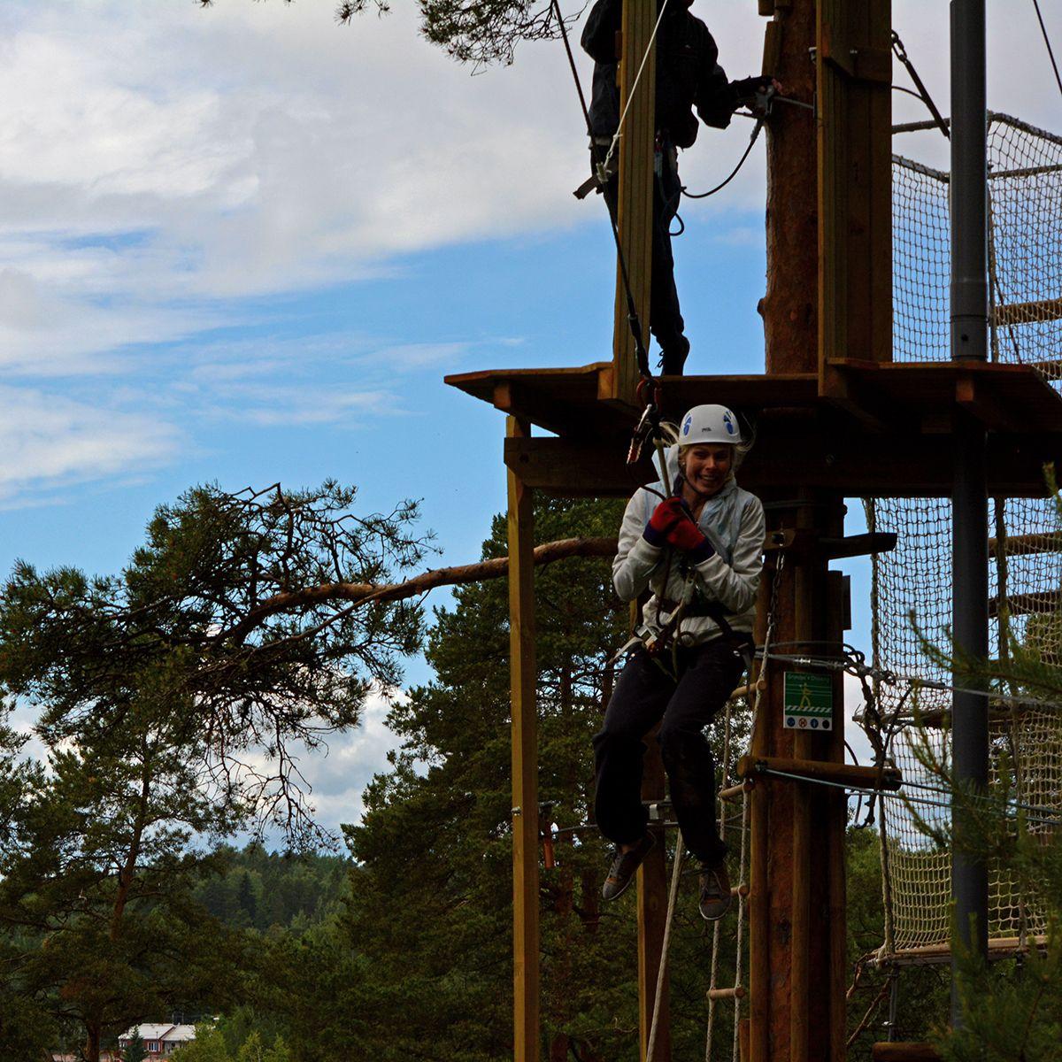 Uskallatko heittäytyä Tazaniksi? Do you dare to take the leap? #tarzanswing #seikkailupuistohuippu