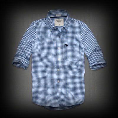 アバクロ Gilligan Mountain Shirt シャツ アバクロを代表するトナカイのロゴマークの刺繍がポイント。