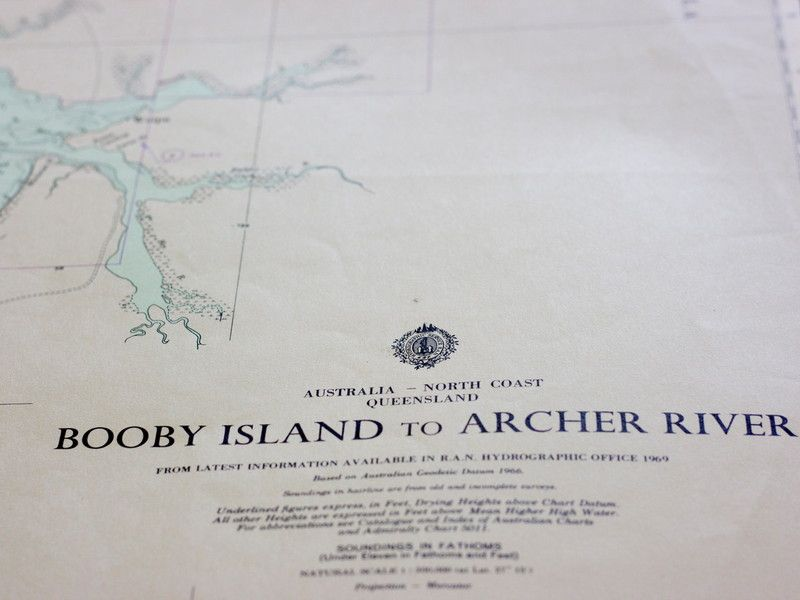 Northern Australia chart & Gulf.  chart at coastal vintage