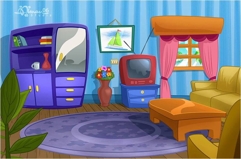 Cmbg Living Room 1 By Aimanstudio Cartoon Backgrounds
