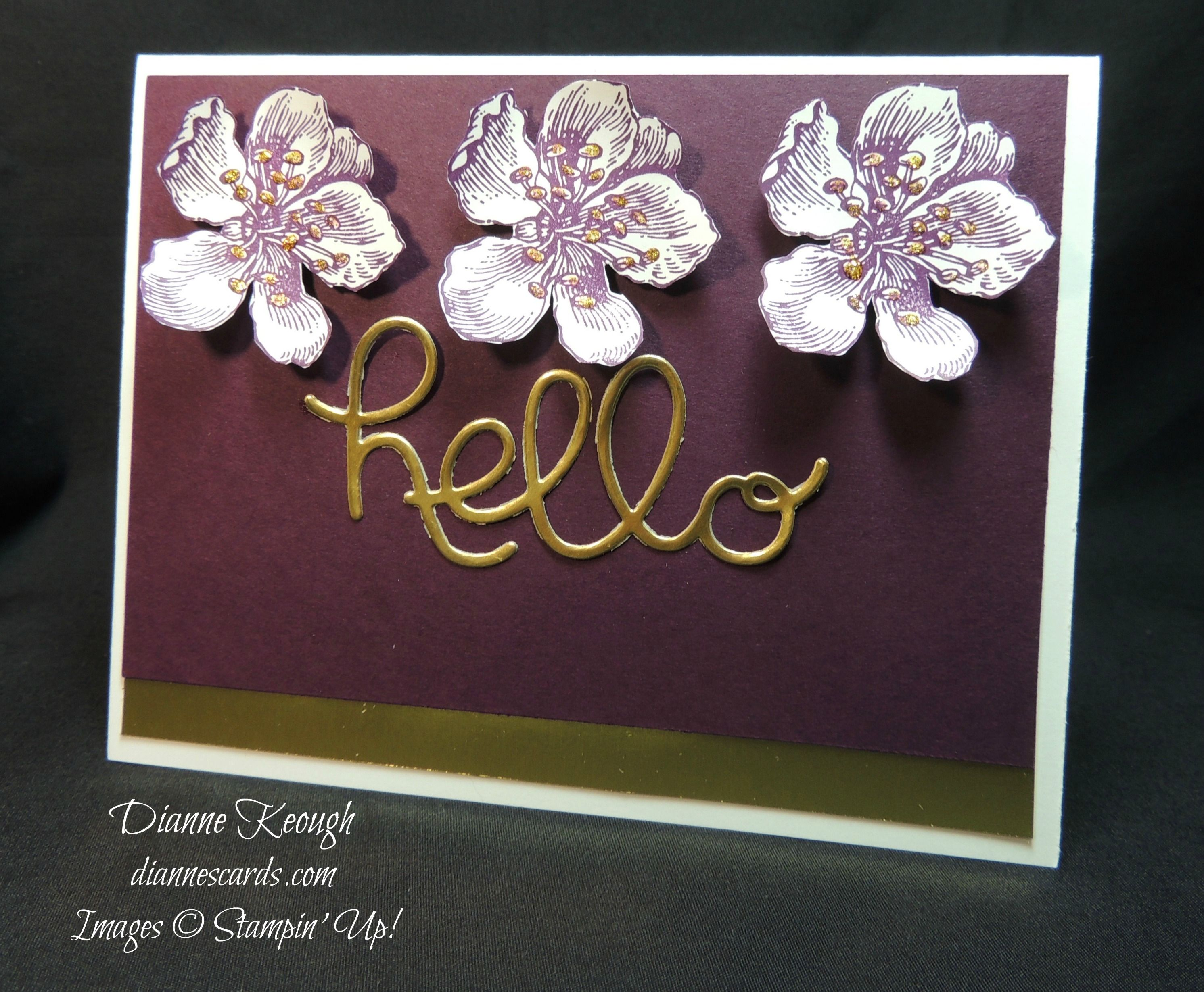 Hello card using Everything Eleanor stamp set. Freshly Made Sketches challenge. See blog for details:  http://diannescards.com/2015/10/29/everything-eleanor-again