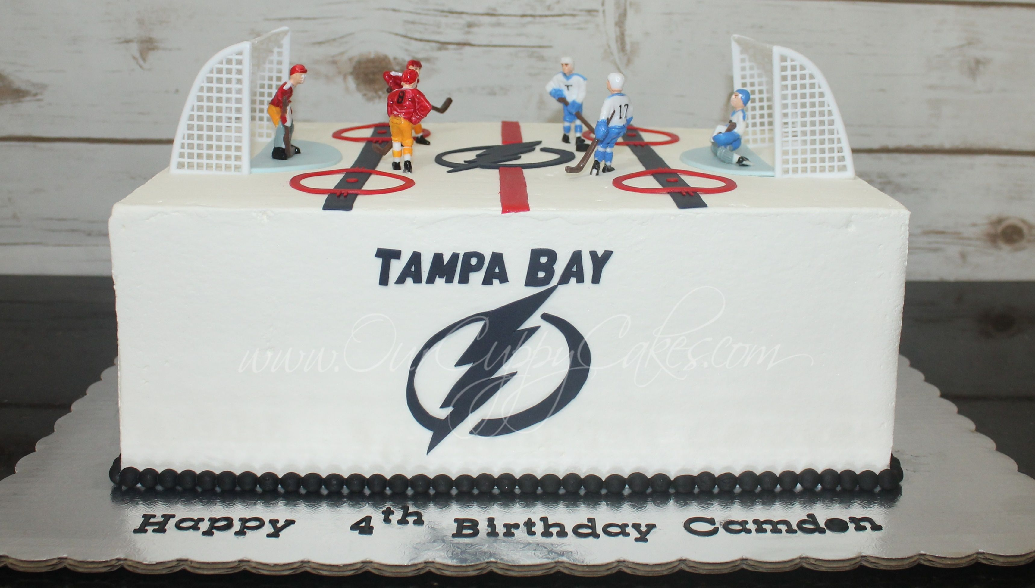 Magnificent Tampa Bay Lightning Hockey Cake With Images Hockey Cakes Funny Birthday Cards Online Elaedamsfinfo