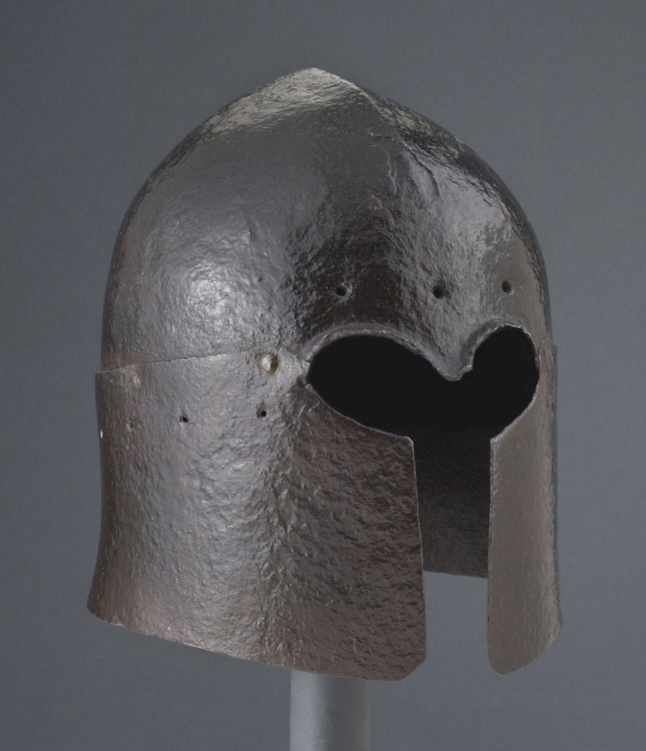 Sallet / Barbuta Made in Italy, probably Venice Date: c. 1450-1470 Medium: Steel (corroded to a brown patina) Dimensions: Weight: 5.7 ...