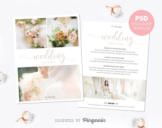 Price list template Pricing guide Wedding photography pricing - Price Sheet Template