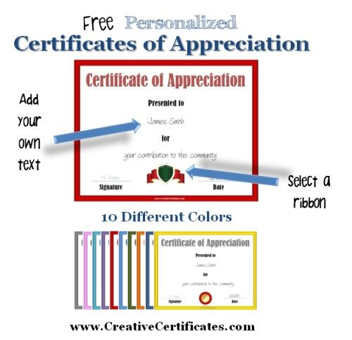 certificate of appreciation template christmas pinterest
