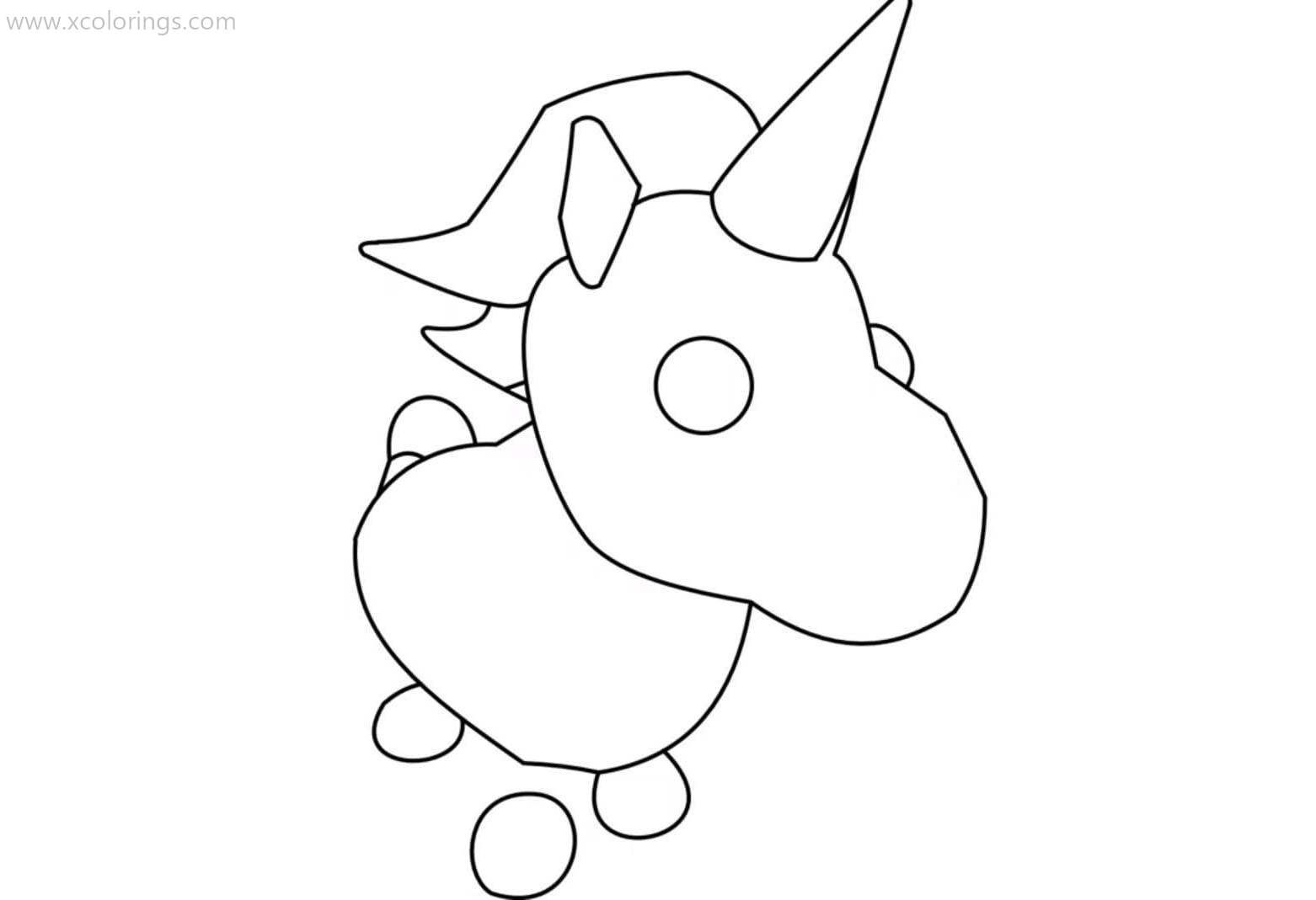 Adopt Me Unicorn Coloring Pages Unicorn Coloring Pages Coloring Pages Adoption