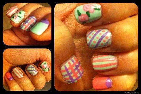 Cute Easter fingernails