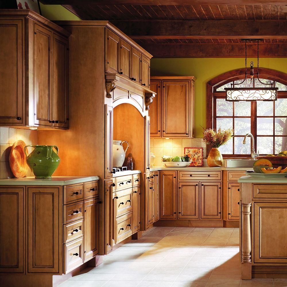 Thomasville Classic Blakely 14 1 2 X 14 1 2 In Cabinet Door Sample In Palomino 772515399930 The Home Depot In 2021 Thomasville Cabinetry Solid Wood Kitchen Cabinets Log Home Kitchens
