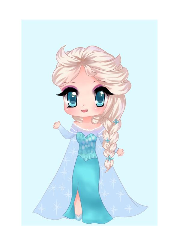 Chibi Queen Elsa by BonnieBunniChu Chibi drawings, Chibi