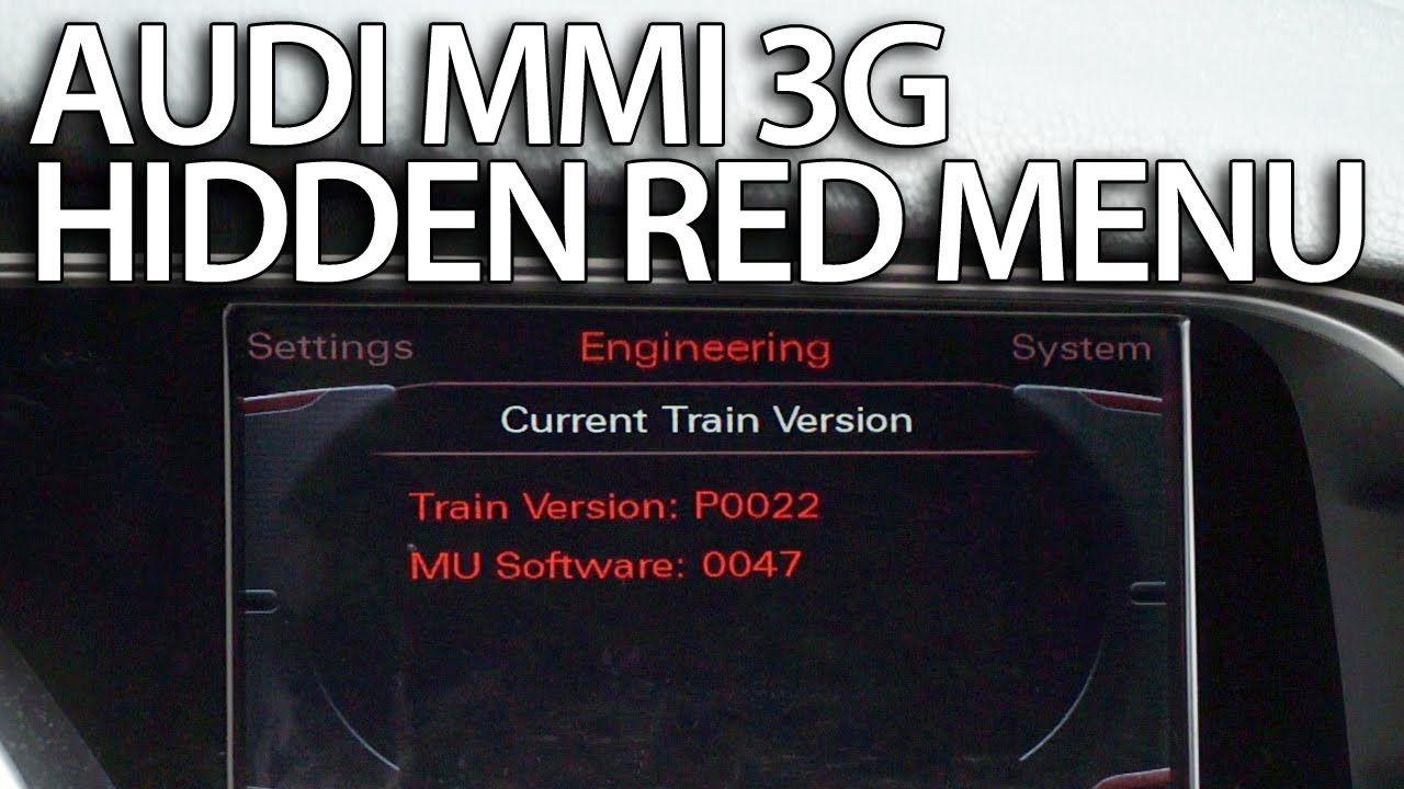 How to enter hidden red menu Audi MMI 3G (A1 A4 A5 A6 A7