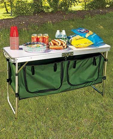 Portable Camping Kitchen Table Outdoor Survival Gear Pinterest