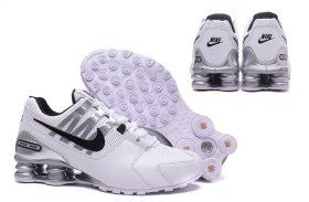 Creative Nike Shox Avenue Shox NZ White Black Silver Men s Sport Athletic  Running Shoes Sneakers 392fe963b