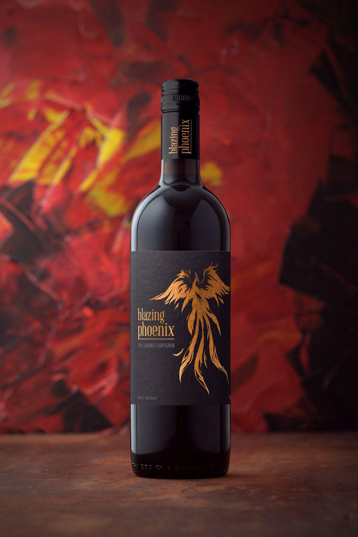 Blazing Pheonix Wine Label Design Wine Label Label Design